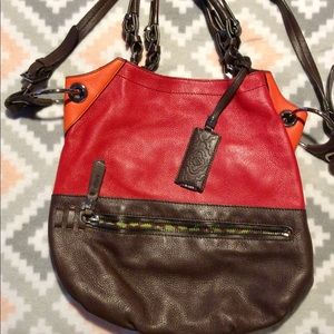 ORYANY VERY LARGE LEATHER CROSSBODY SATCHEL